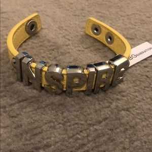 NWT BCBGeneratiom Yellow INSPIRE Bracelet